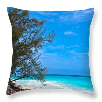 Bimini Beach Throw Pillow