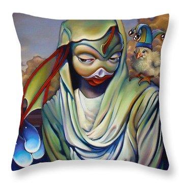 Binky's Mistress Throw Pillow by Patrick Anthony Pierson