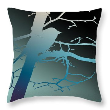 Bird At Twilight Throw Pillow