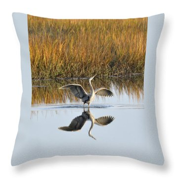 Bird Dance Throw Pillow