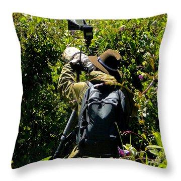 Bird Hunting Throw Pillow by Al Bourassa