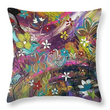 Bird Of A Feather Throw Pillow by Kelly Turner