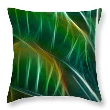 Bird Of Paradise Fractal Panel 3 Throw Pillow by Peter Piatt
