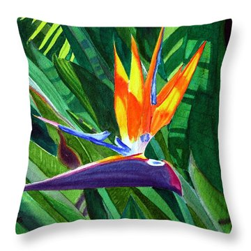 Bird-of-paradise Throw Pillow