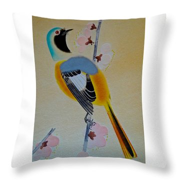 Bird Print Throw Pillow