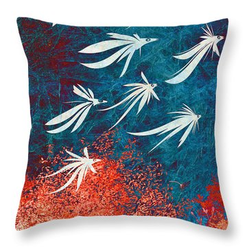 Birdeeze -v04 Throw Pillow by Variance Collections