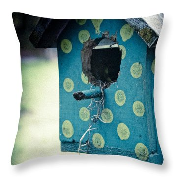 Birdhouse Memories Throw Pillow