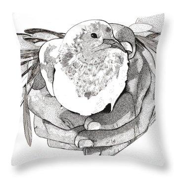 Bird Peace Throw Pillow