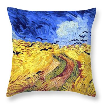 Birds And Lands Throw Pillow by Sumit Mehndiratta