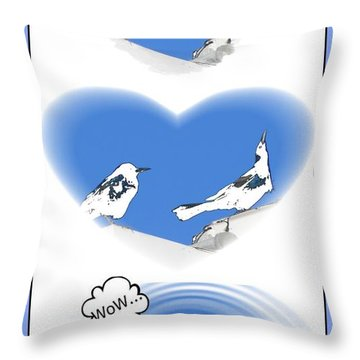 Throw Pillow featuring the digital art Birds In Love by Maciek Froncisz