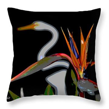 Birds In My Paradise... Throw Pillow