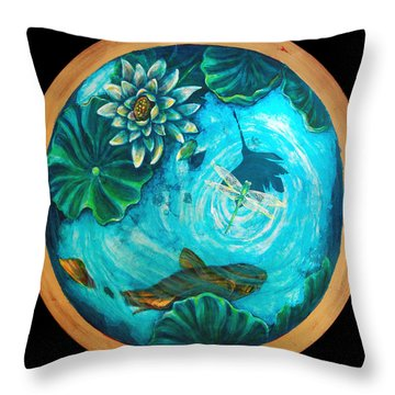 Birdseyedragonfly Throw Pillow