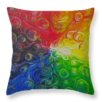 Birth Of Color Throw Pillow