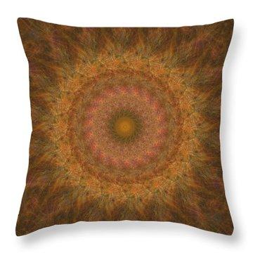 Birthing Mandala 18 Throw Pillow by Rhonda Barrett