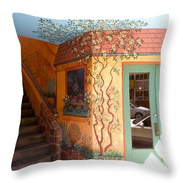 Bisbee Wall Art Throw Pillow by Feva  Fotos
