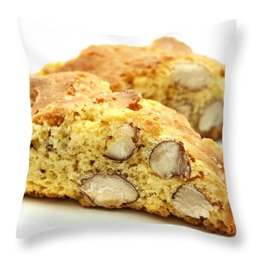 Biscotti   Throw Pillow by Fabrizio Troiani