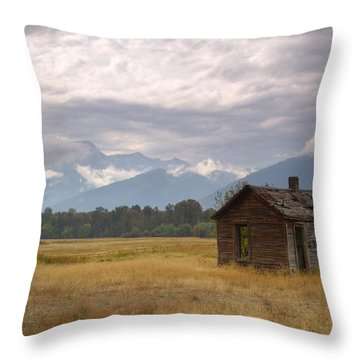 Bitterroot Homestead Throw Pillow by Idaho Scenic Images Linda Lantzy