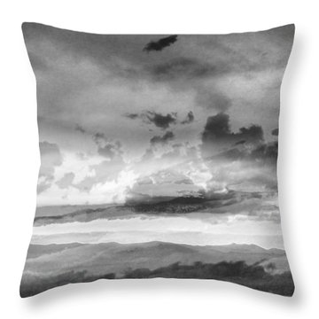 Black And Grey Sunset Throw Pillow