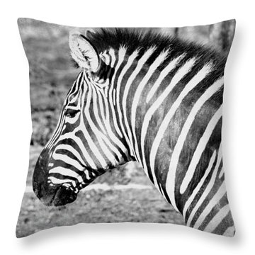 Black And White All Over Throw Pillow
