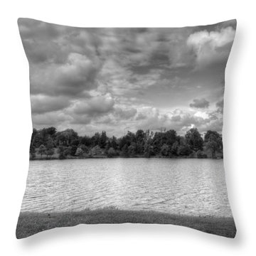 Throw Pillow featuring the photograph Black And White Autumn Day by Michael Frank Jr