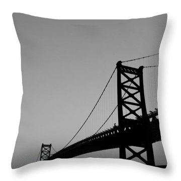 Black And White Bridge Throw Pillow by Bill Cannon