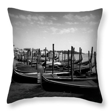 Black And White Gondolas Throw Pillow