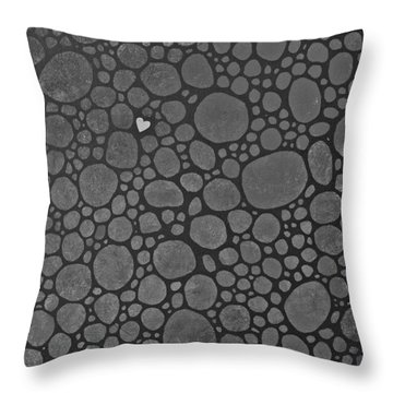 Black And White Throw Pillow by Sheep McTavish