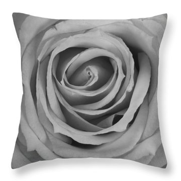 Black And White Spiral Rose Petals Throw Pillow by James BO  Insogna