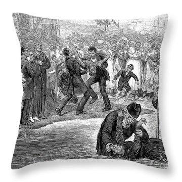 Black Baptism, 1887 Throw Pillow by Granger