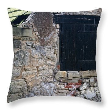 Black Boarded Window Throw Pillow