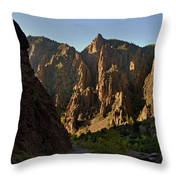 Black Canyon  Throw Pillow by Marty Koch