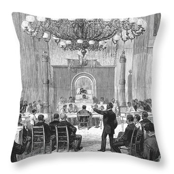 Black Convention, 1876 Throw Pillow by Granger