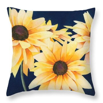 Black Eyed Susans 2 Throw Pillow