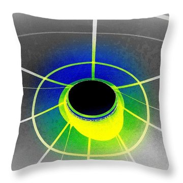 Black Hole With Aura Throw Pillow by Randall Weidner