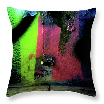 Throw Pillow featuring the photograph Black Light by Newel Hunter