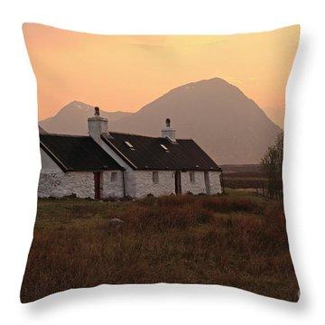 Black Rock Cottage Sunset Throw Pillow