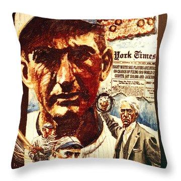 Black Sox Throw Pillow by Ken Meyer