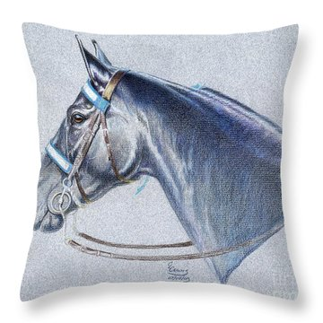Black Tennessee Walker Throw Pillow by Carrie L Lewis