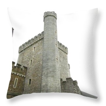 Black Tower Throw Pillow