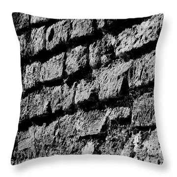 Black Wall Throw Pillow