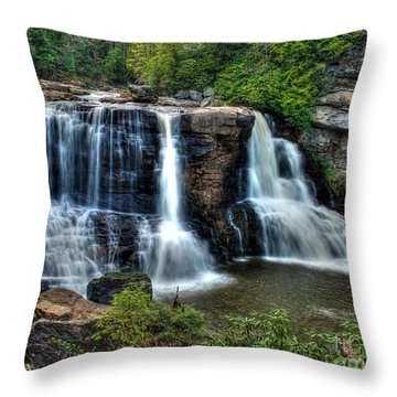 Throw Pillow featuring the photograph Black Water Falls by Mark Dodd