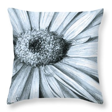 Black White Gerber Throw Pillow
