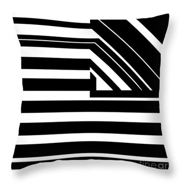 Black Flag Optical Illusion Throw Pillow