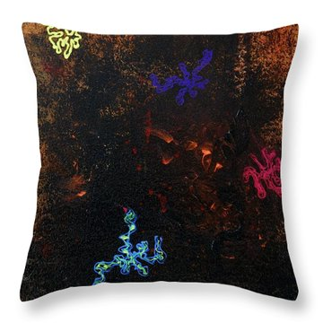Throw Pillow featuring the painting Blacklight Sea by Lola Connelly