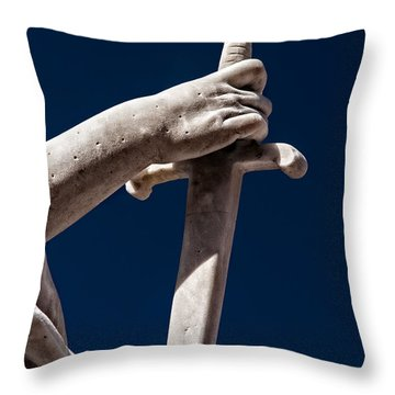 Blade In Hand Throw Pillow by Christopher Holmes