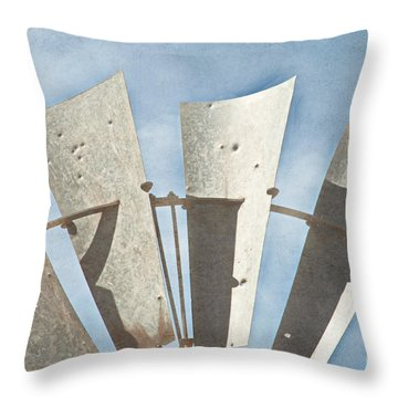 Blades - Texture Throw Pillow by Bob and Nancy Kendrick