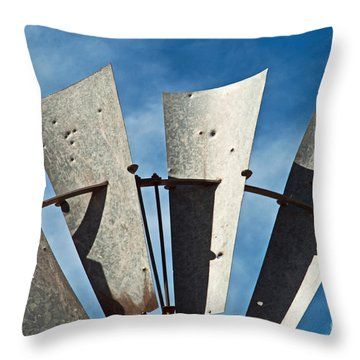 Blades Throw Pillow by Bob and Nancy Kendrick