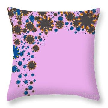 Blades On Purple Throw Pillow by Atiketta Sangasaeng