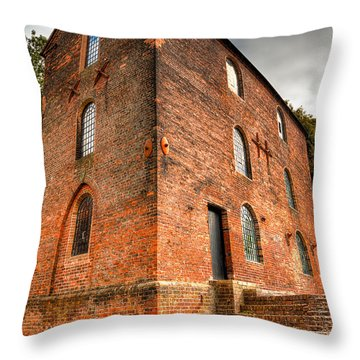 Blast Furnaces 1830s Throw Pillow by Adrian Evans