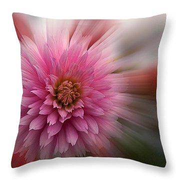 Blast Off Throw Pillow by Jean Noren